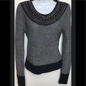 TOPSHOP Sweater Embellished Chain Scoop